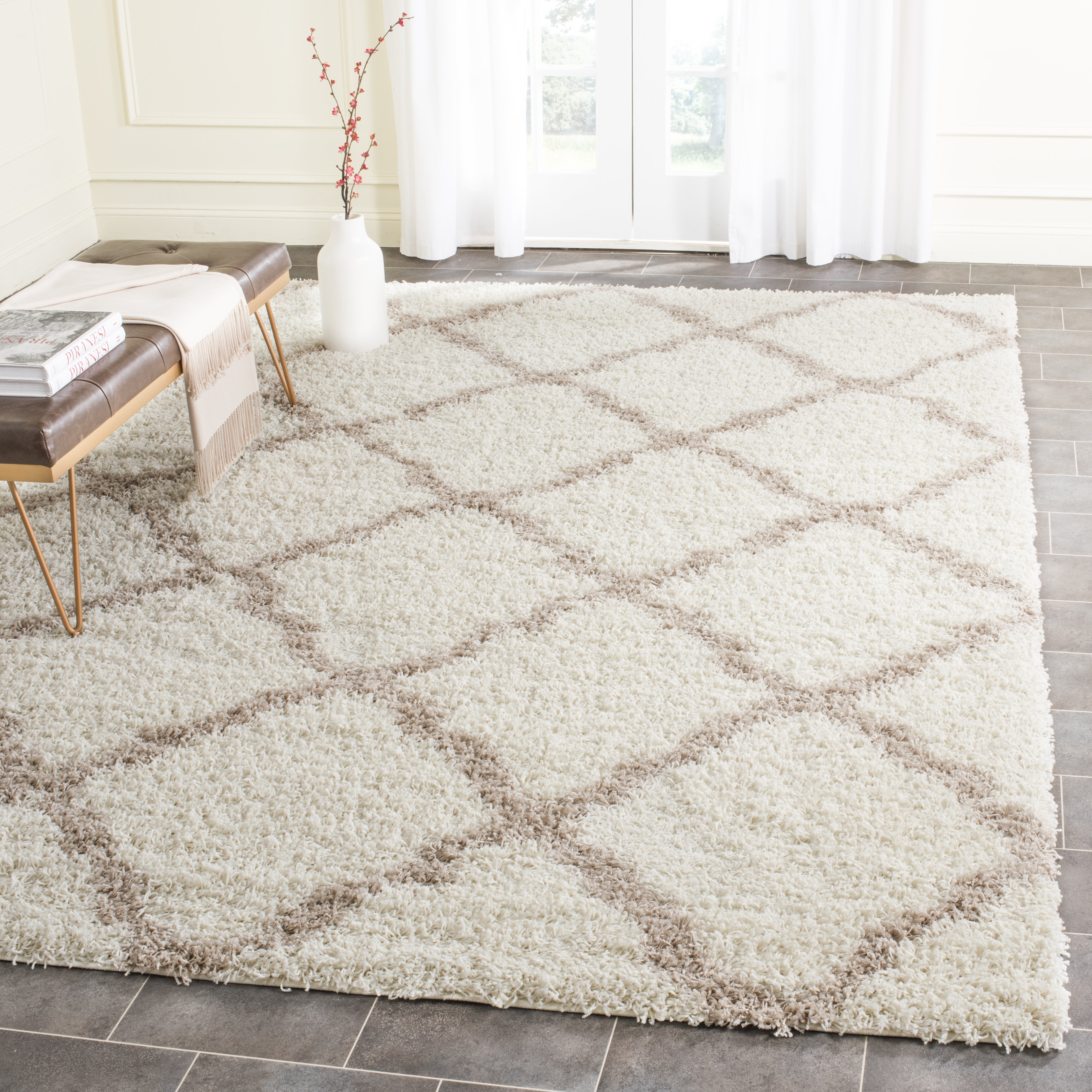floor shag runner white your for captivating diamond safavieh grey rug decoration decor curtains interior rugs ivory charming and entryway