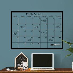 Chalkboard Wall Calendar Wayfair