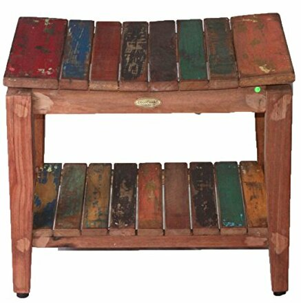 Recycled Salvaged Reclaimed Boat Wood Indoor Outdoor Bench