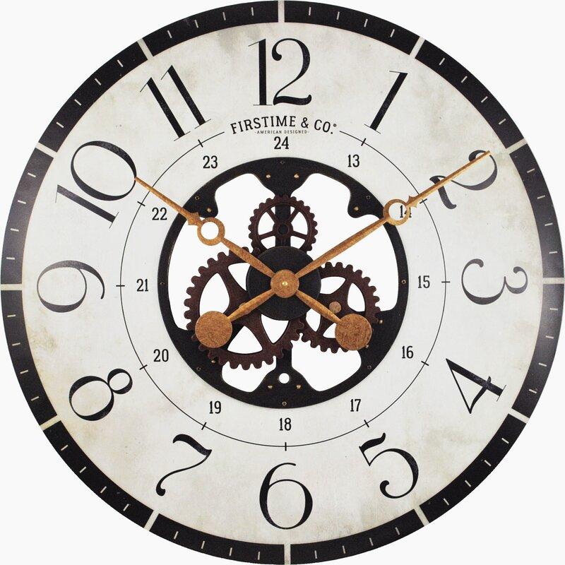 Trent Austin Design Oversized Deseret Gears 27 Wood Wall Clock
