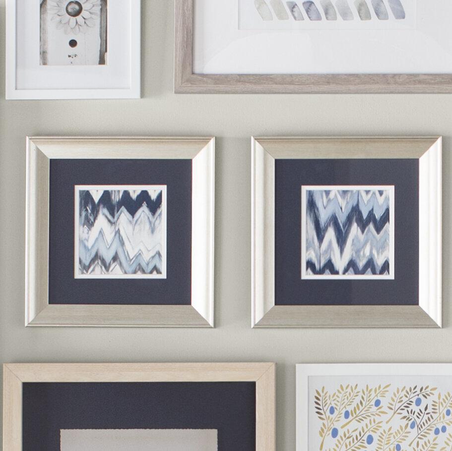 Ivy Bronx \'Chevron Pattern\' 2 Piece Framed Graphic Art Set & Reviews ...