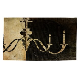 Chandelier 1 Black/White Area Rug By Manual Woodworkers & Weavers