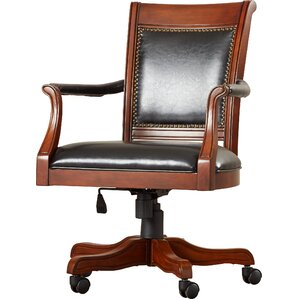 strawn genuine leather upholstered dining chair