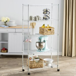 Wayfair Basics 5 Shelf Wire Shelving Unit