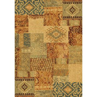Nakano Yellow/Brown/Blue Rug by World Menagerie