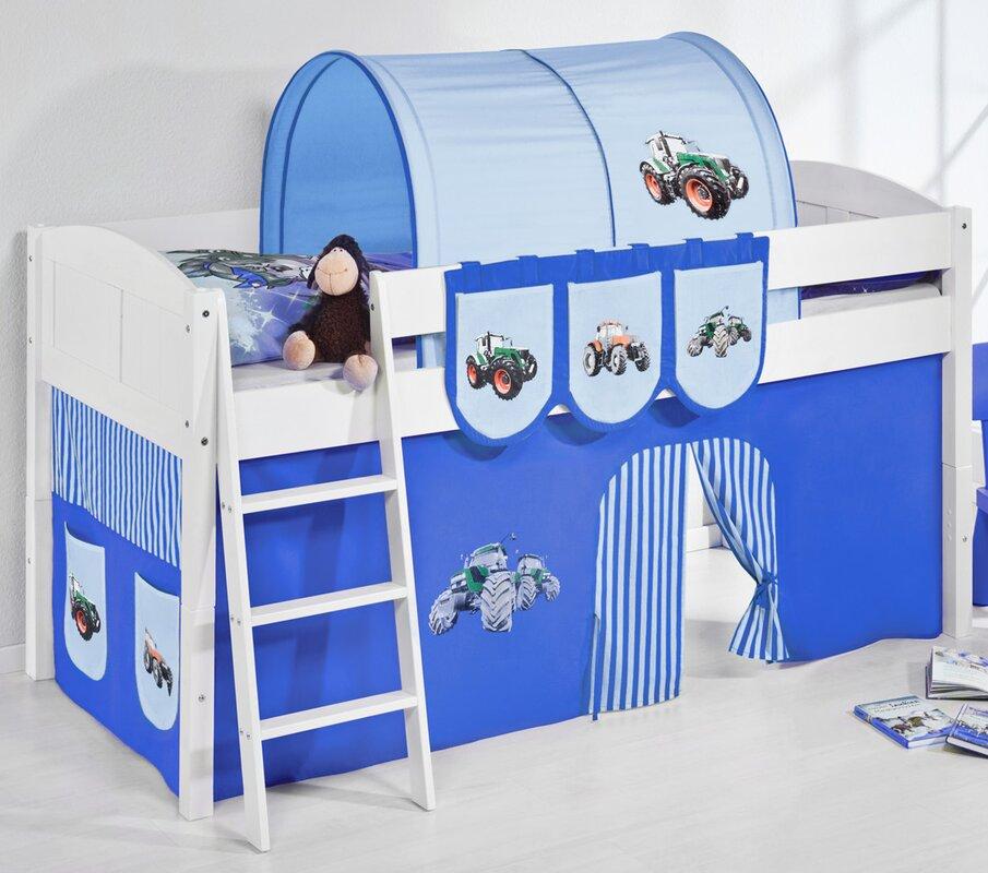 lilokids hochbett trecker mit vorhang 90 x 200 cm. Black Bedroom Furniture Sets. Home Design Ideas