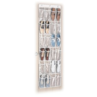 24 pocket 12 pair overdoor shoe organizer - Over The Door Shoe Rack