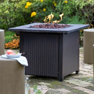 Wicker Propane Gas Fire Pit Table