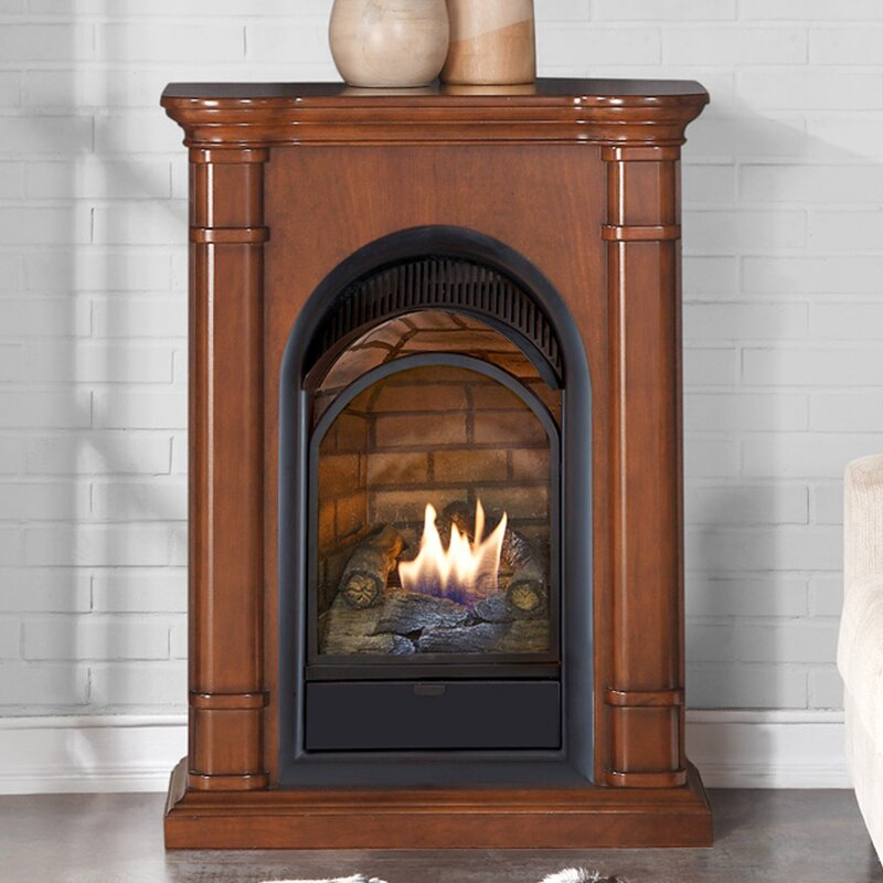 dual fuel ventless natural gas propane fireplace