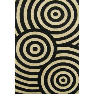 Hand-Tufted Black / Beige Area Rug