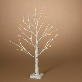 d67a425fbcac White Birch Led Tree | Wayfair