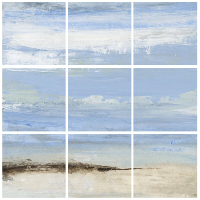 Rosecliff Heights \'Abstract Beach Seascape\' 9 Piece Canvas Wall Art ...