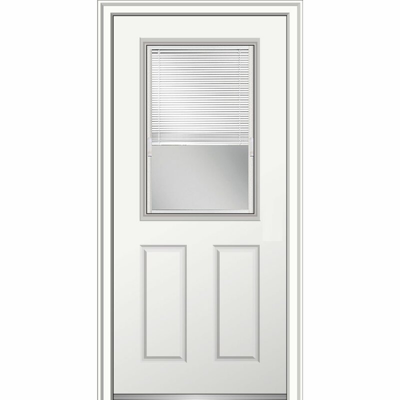 Superb 15 Lite Fiberglass Smooth 2 Panel Primed Prehung Front Entry Door