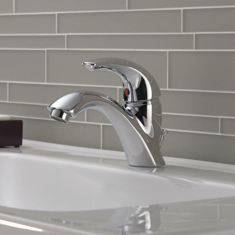Delta C Spout Series Single Hole Bathroom Faucet with & Reviews ...