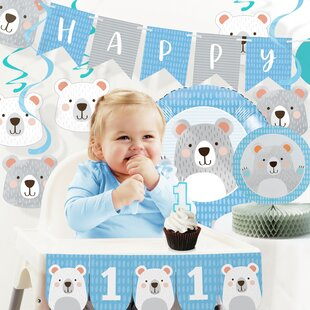 Mchugh Party Bear 1st Birthday Decorations Kit