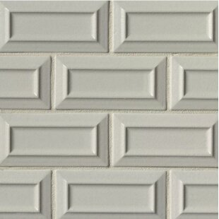 Portofino 3 X 6 Beveled Subway Tile In Gray