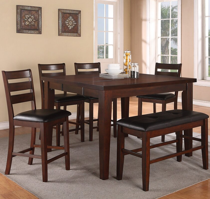 Nice Paul 6 Piece Counter Height Dining Set