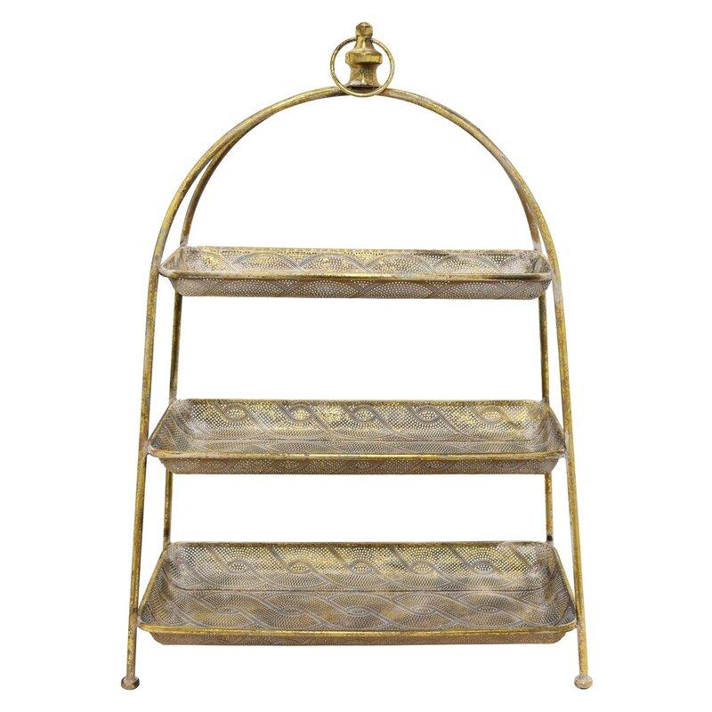 3 Tier Floor Stand Metal Basket