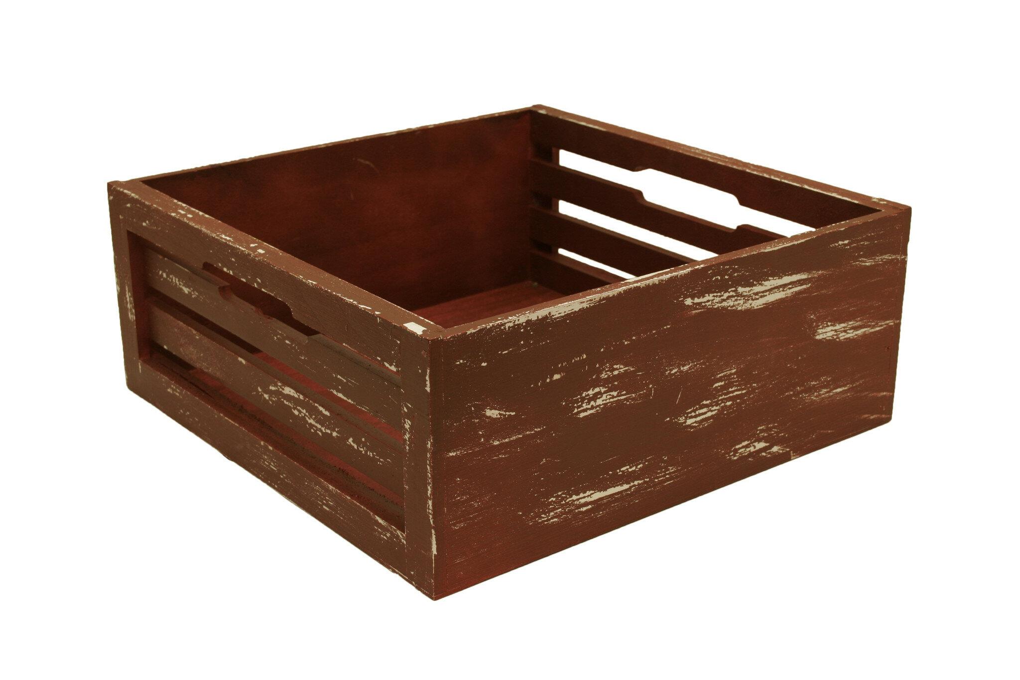 Slat Solid Wood Crate