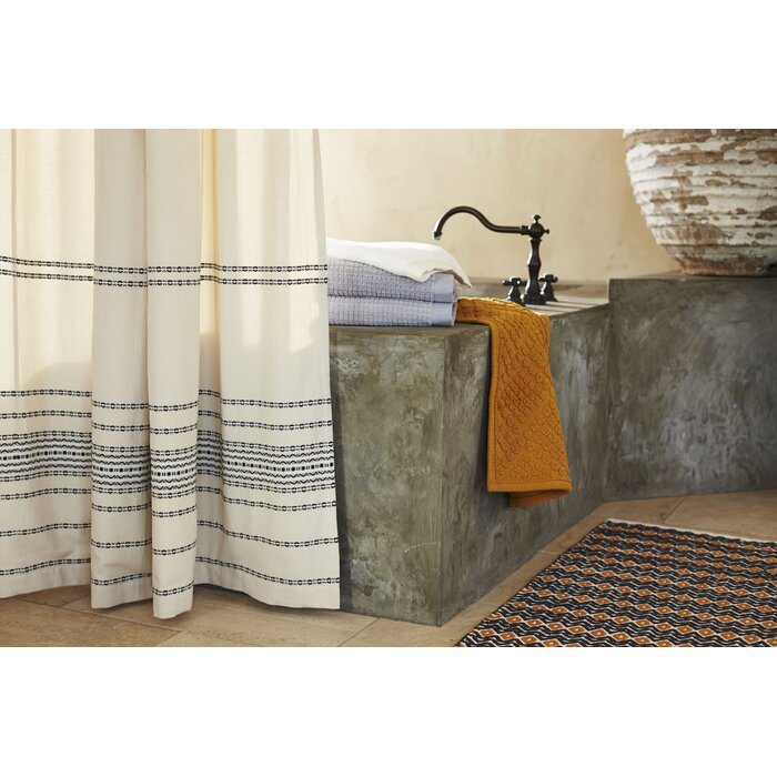 Coyuchi Rippled Stripe Cotton Single Shower Curtain Reviews