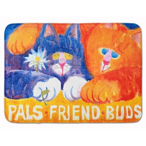 Cats Pals Friends Buds Memory Foam Bath Rug