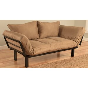 Ebern Designs Everett Convertible Futon Lounger and Mattress