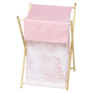 French Toile Laundry Hamper