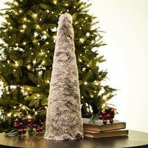 Large Faux Fur Christmas Table Tree
