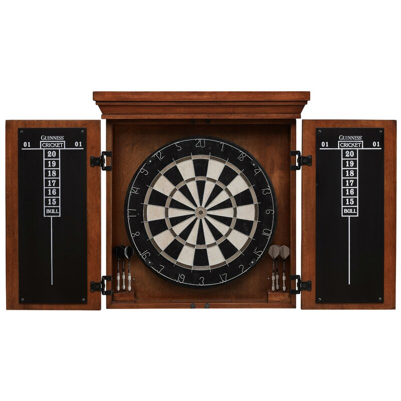 American Heritage Guinness Dartboard Cabinet Set Amp Reviews