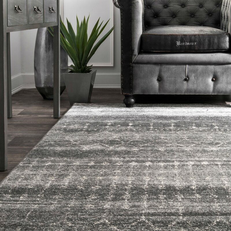 Mistana Clair Dark Gray Area Rug Amp Reviews Wayfair