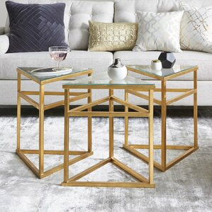 Reynaldo 3-Piece Coffee Table by Willa Arlo Interiors