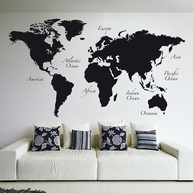 Wallpops world map wall decal reviews wayfair world map wall decal gumiabroncs Image collections
