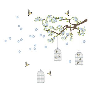 Branch and Cages Wall Decal