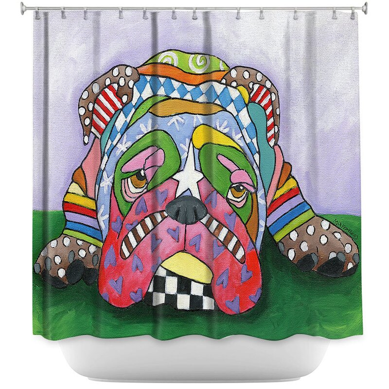 Sad English Bulldog Shower Curtain