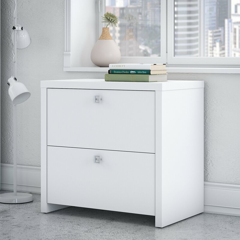 kathy ireland office by bush echo 2-drawer lateral filing cabinet