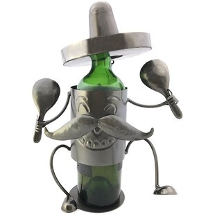 Happy Mexican Fiesta Sombrero 1 Bottle Tabletop Wine Bottle Rack