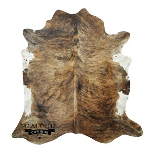 Best Reviews Redcar Cowhide Brown/White Area Rug By World Menagerie