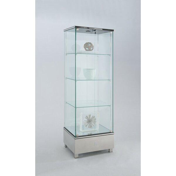 Curved Glass Curio Cabinet | Wayfair