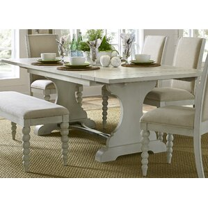Saguenay Trestle Dining Table by Lark Manor