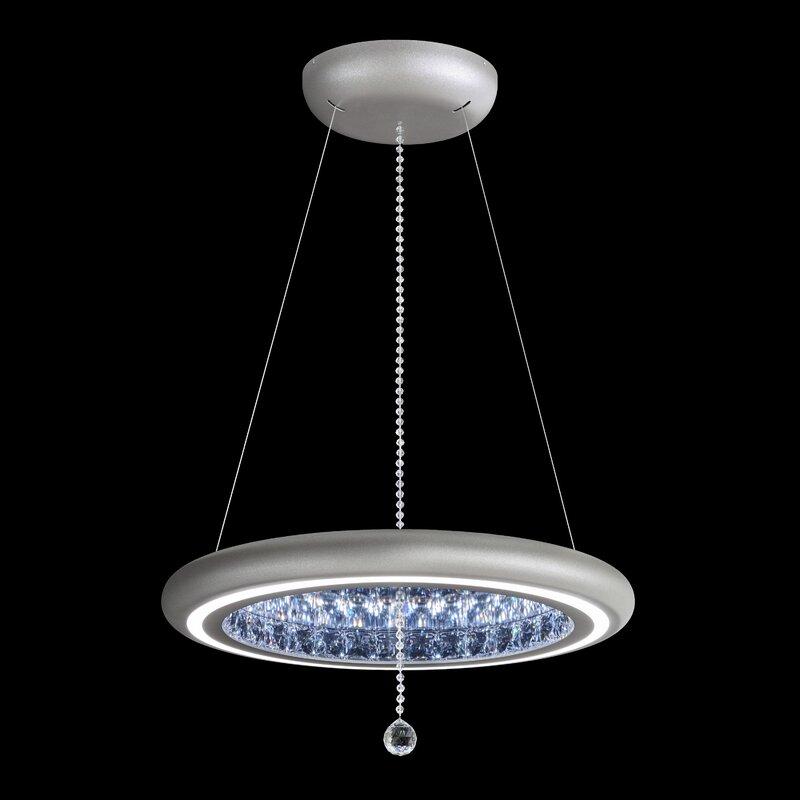 fb173a1a46901 Infinite Aura 1-Light LED Crystal Pendant