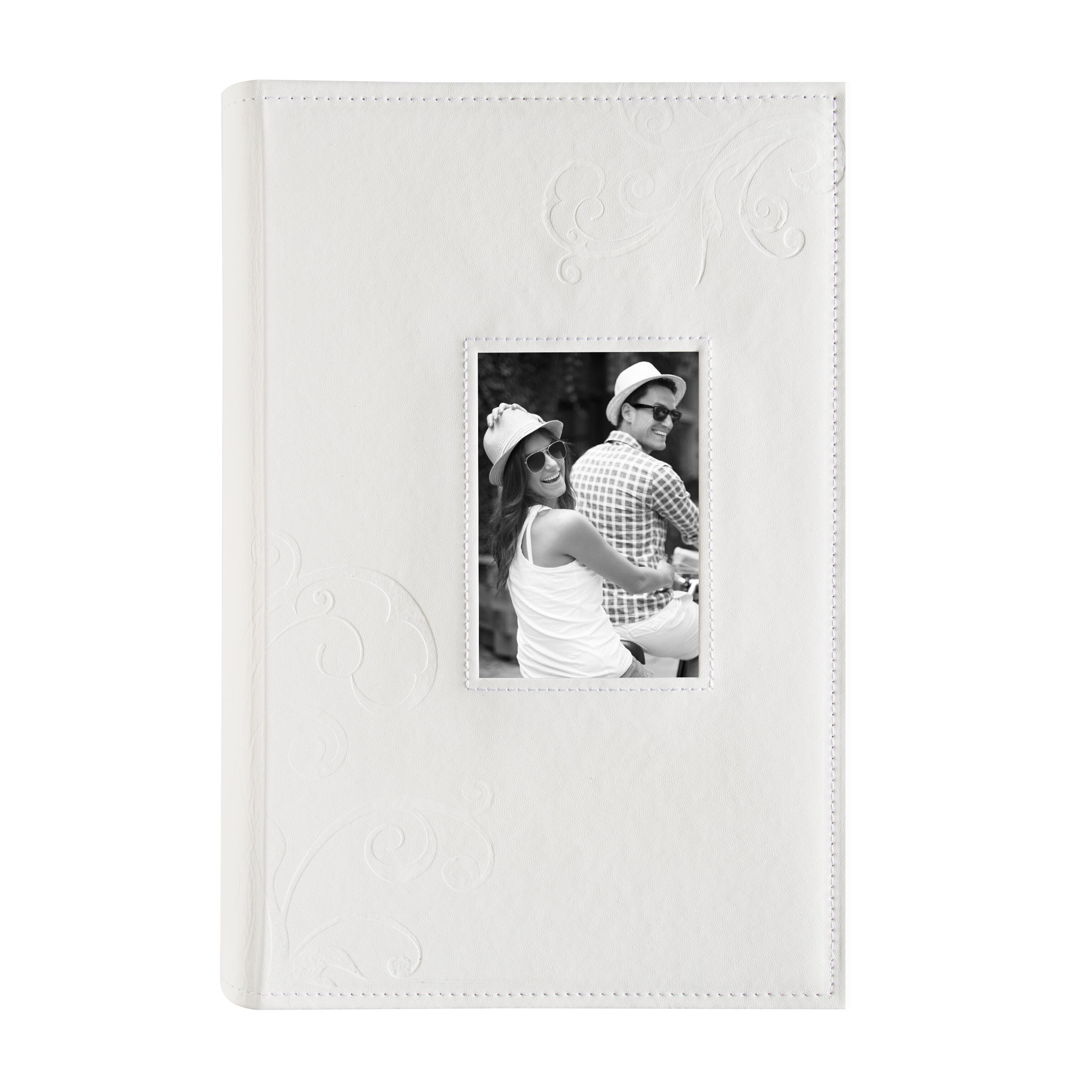 Embossed Flourish Faux Leather Photo Album