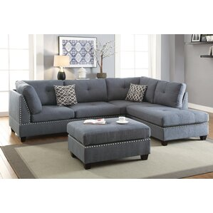 Swan Sectional with Ottoman by Alcott Hill