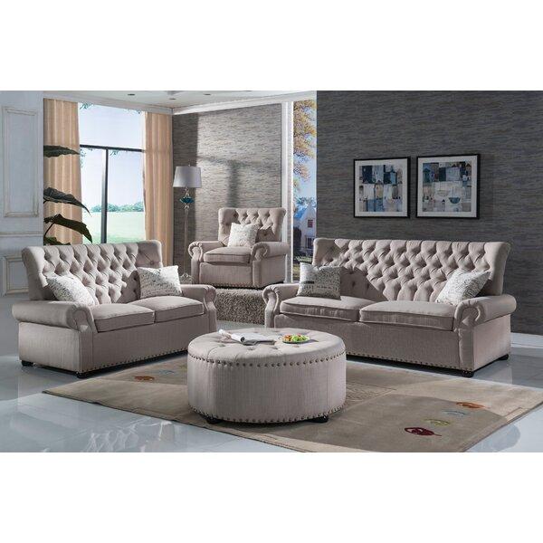 Three Posts Yately 2 Piece Living Room Set & Reviews | Wayfair
