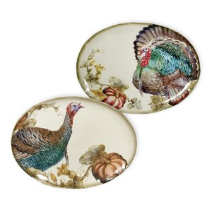 Watercolor Harvest Plate Set (Set of 2)