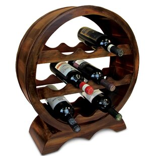 Farrah Wooden 10 Bottle Tabletop Wine Bottle Rack
