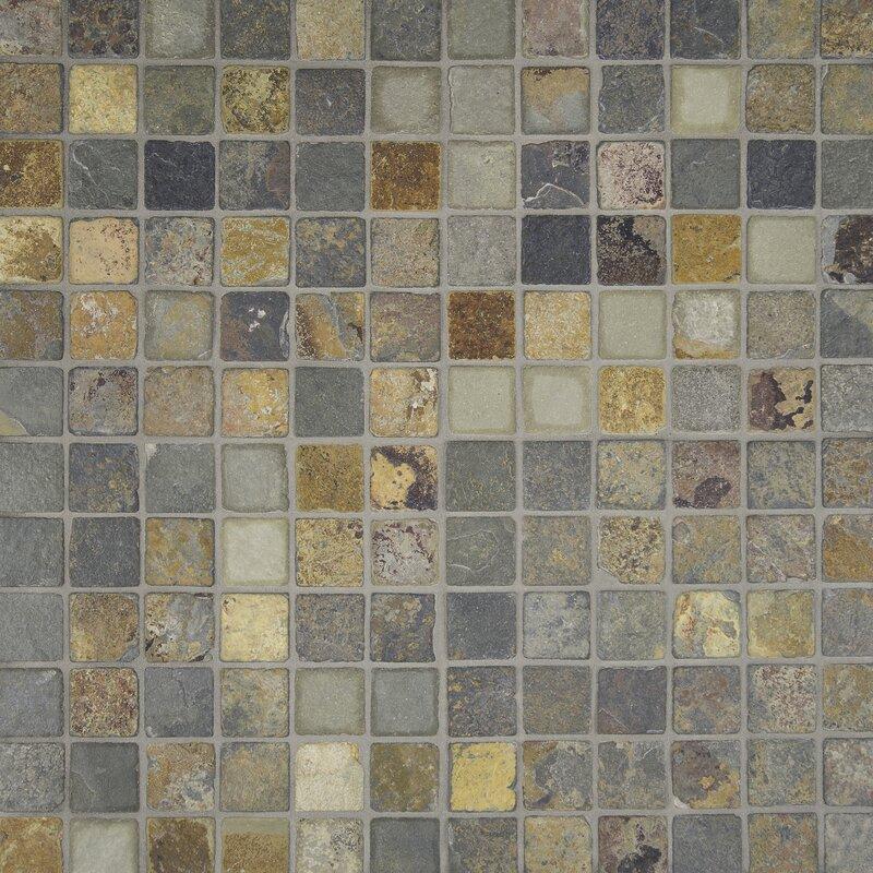 Msi California 2 Quot X 2 Quot Slate Mosaic Tile In Multi