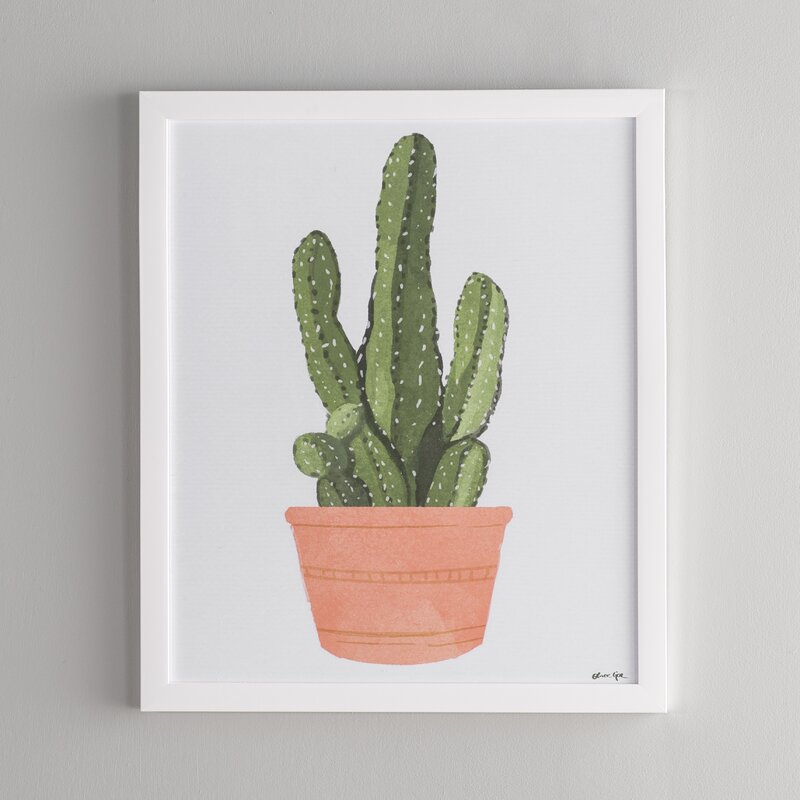 Langley Street 'Cactus Coral III' Framed Graphic Art Print