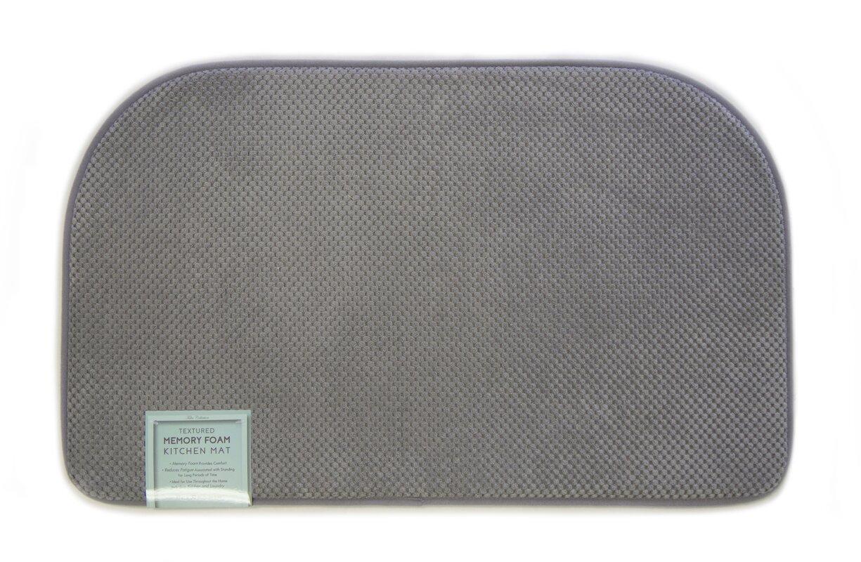 home fashion designs rowan textured memory foam kitchen mat reviews. Black Bedroom Furniture Sets. Home Design Ideas