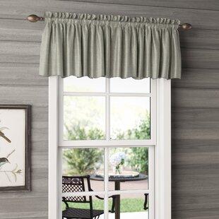 pictures of window valances charcoal quickview window valances café kitchen curtains youll love wayfair