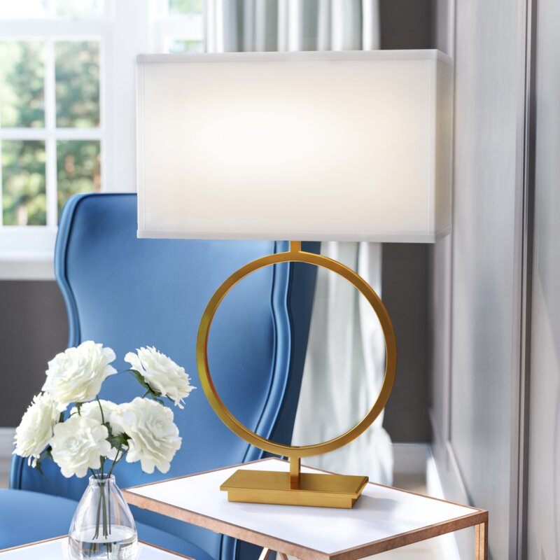 Willa Arlo Interiors Britley 28 75 Table Lamp With Rectangular